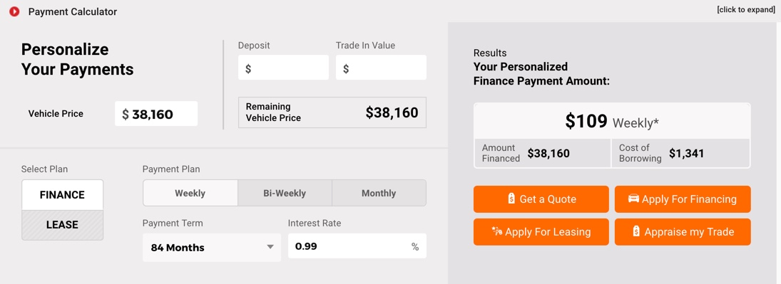 Personalize your Payment - Calculator Update