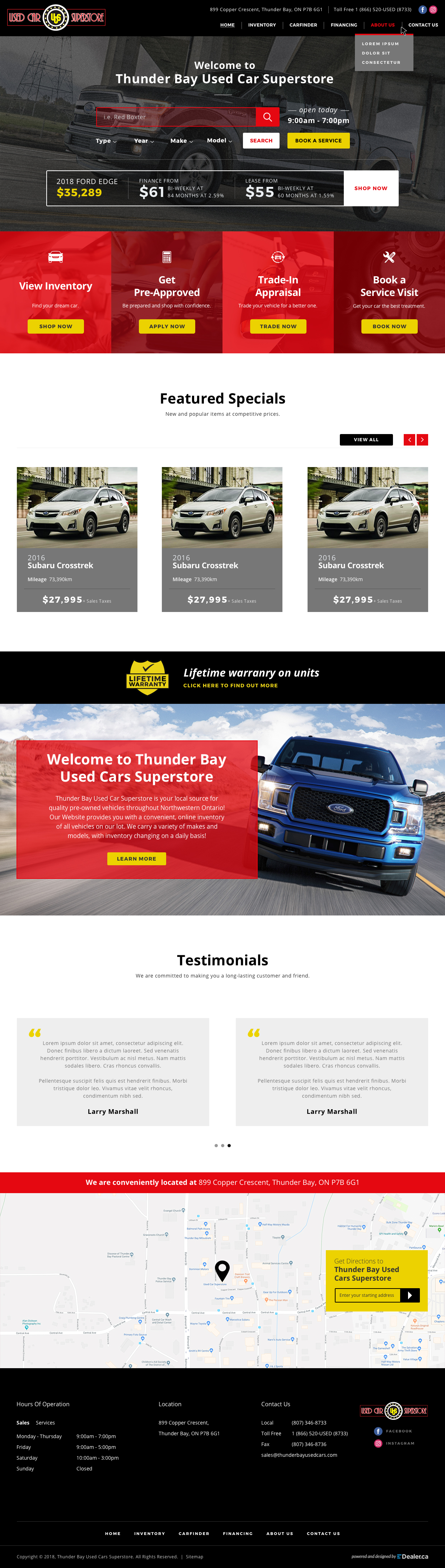 Thunder Bay Used Cars Superstore