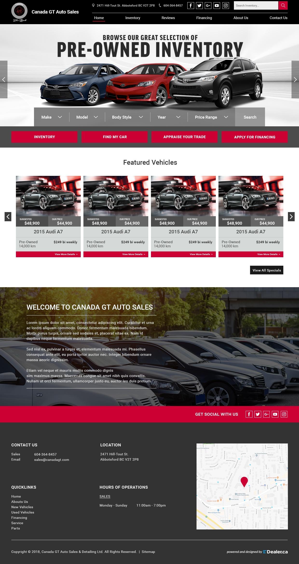 Gt Auto Sales >> Canada Gt Auto Sales Edealer