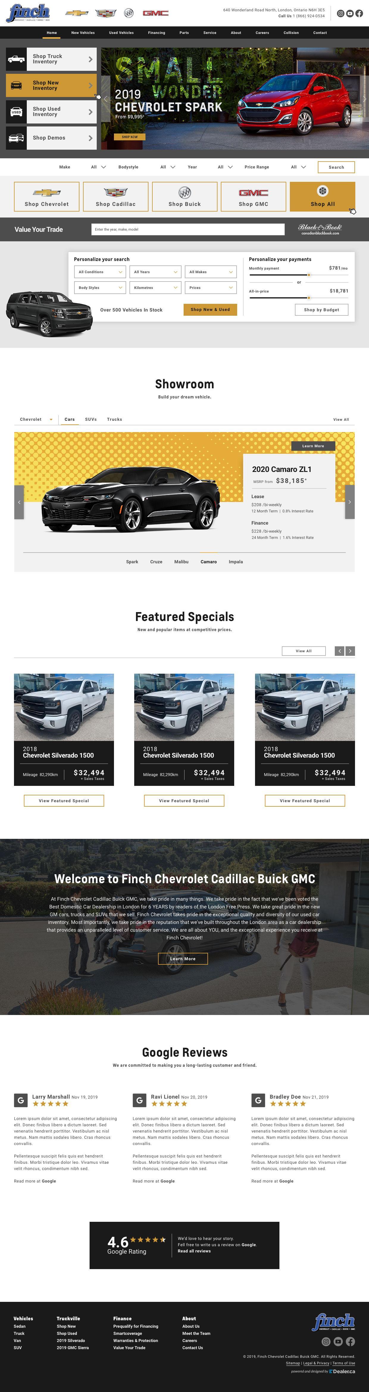 Finch Chevrolet Cadillac Buick GMC