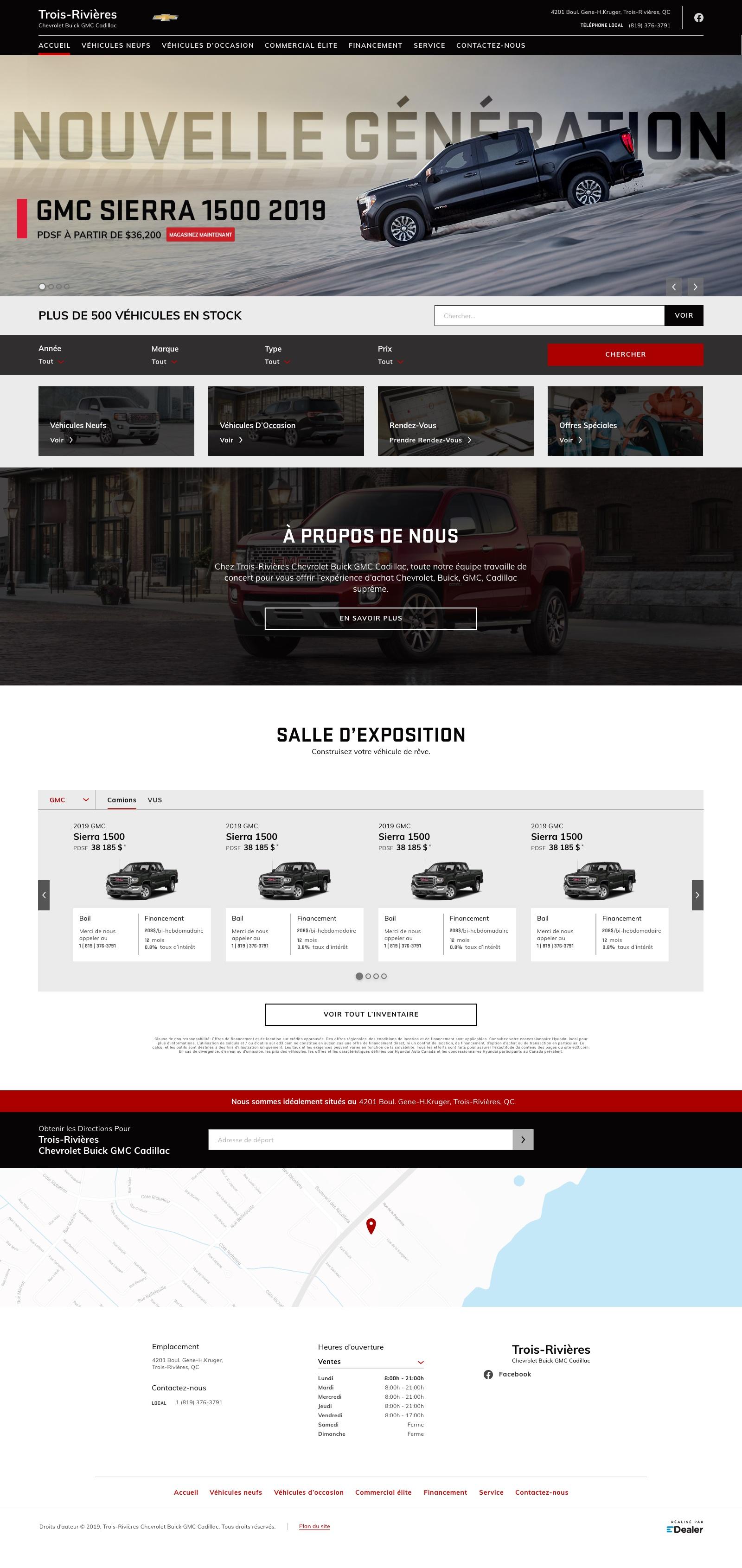 Trois-Rivières Chevrolet Buick GMC Cadillac