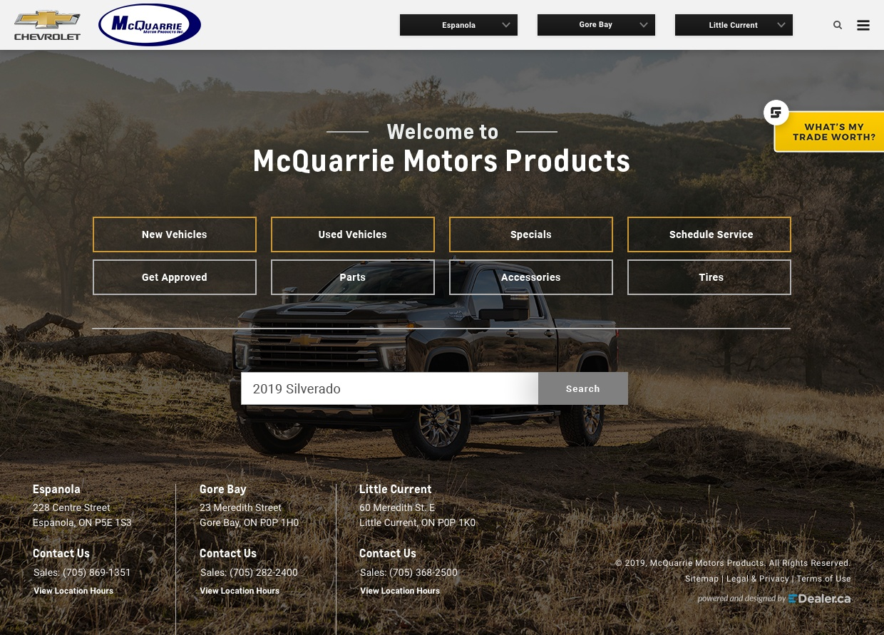 McQuarrie Motor Products Inc