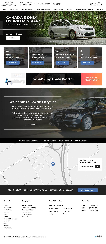Barrie Chrysler Dodge jeep RAM