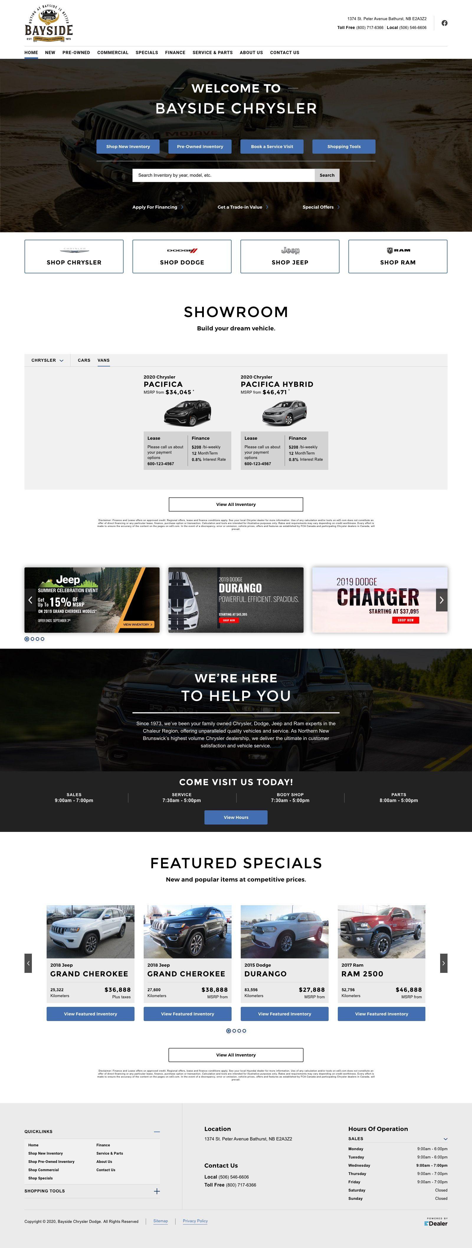 Bayside Chrysler Dodge ltd