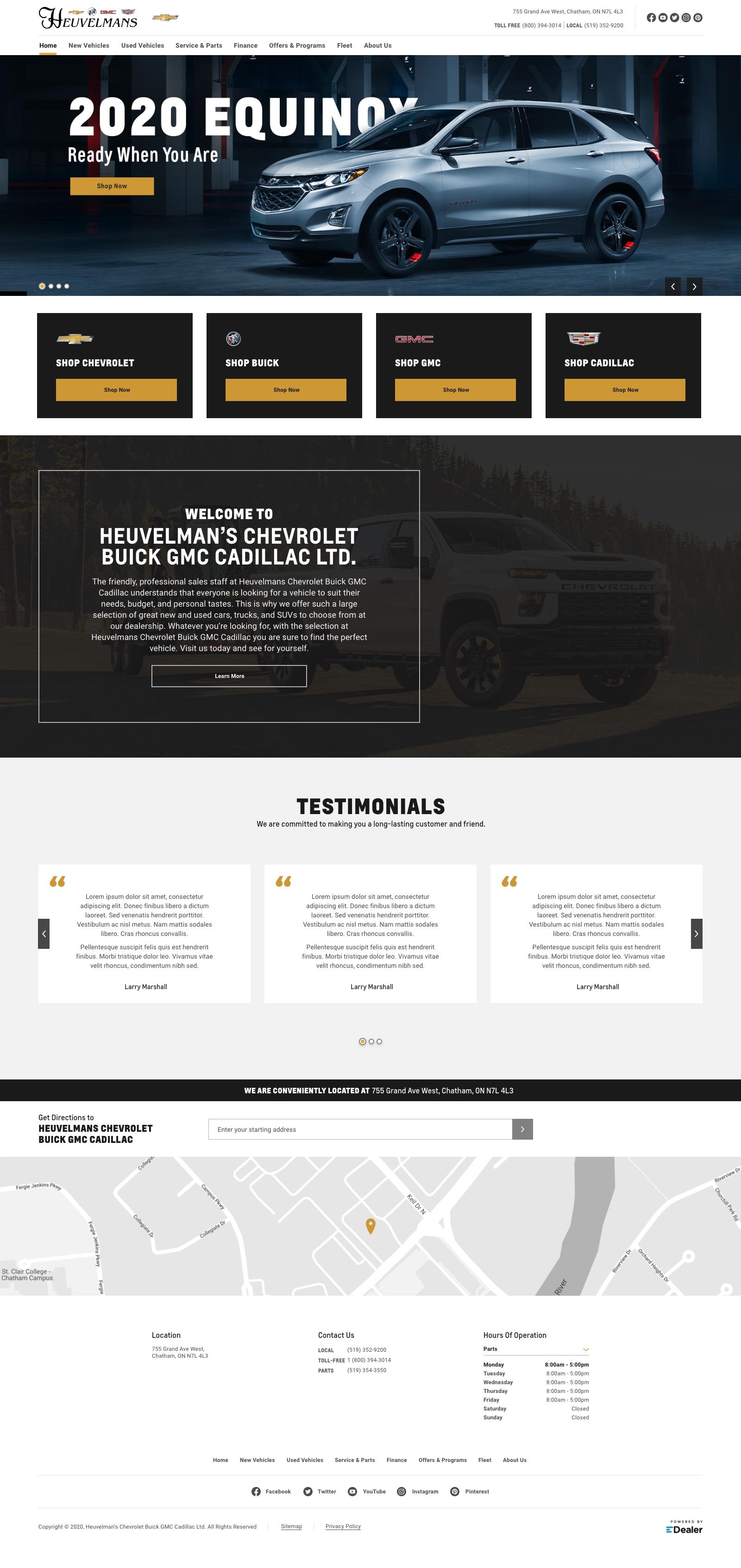 Heuvelmans Chevrolet Buick GMC Cadillac
