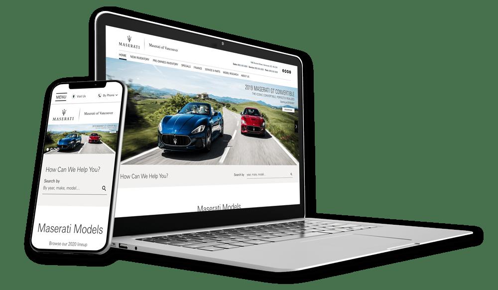 Maserati Desktop Mobile Mockup