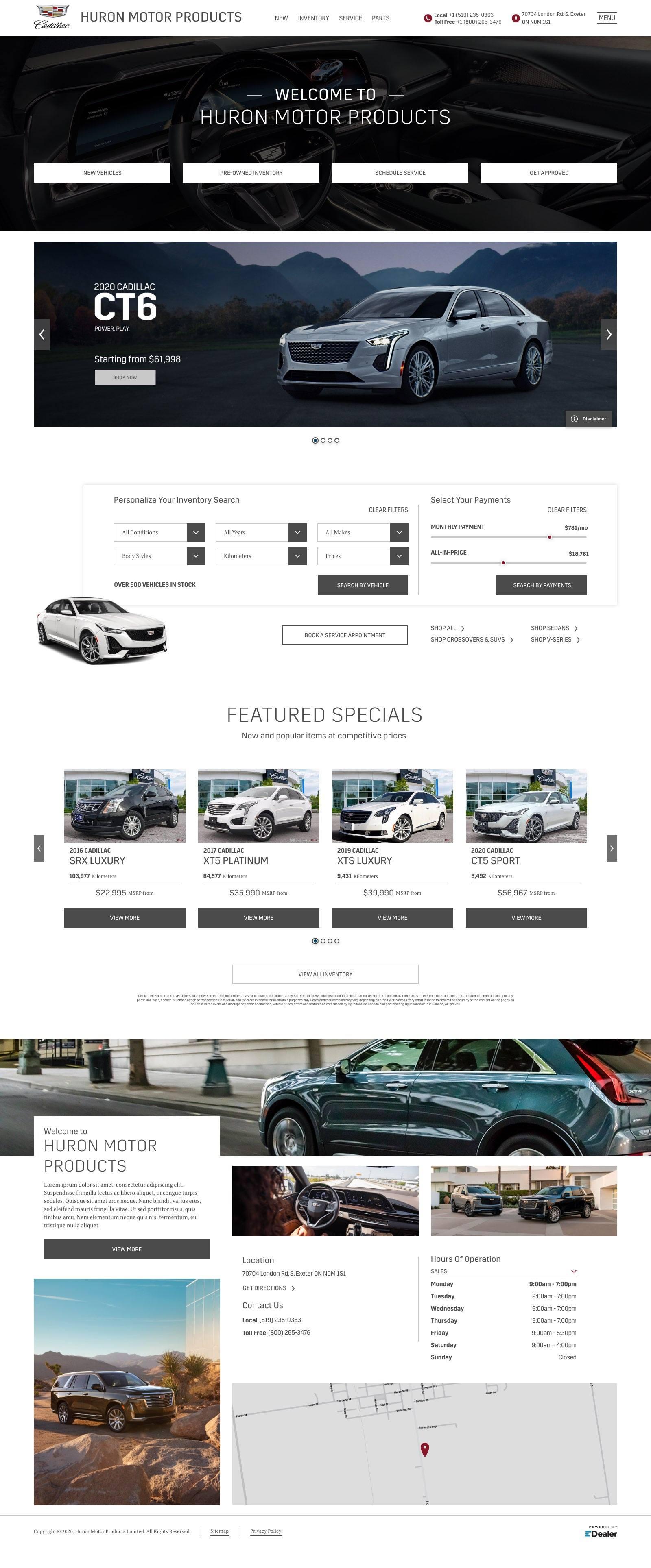 Huron Motor Products Cadillac