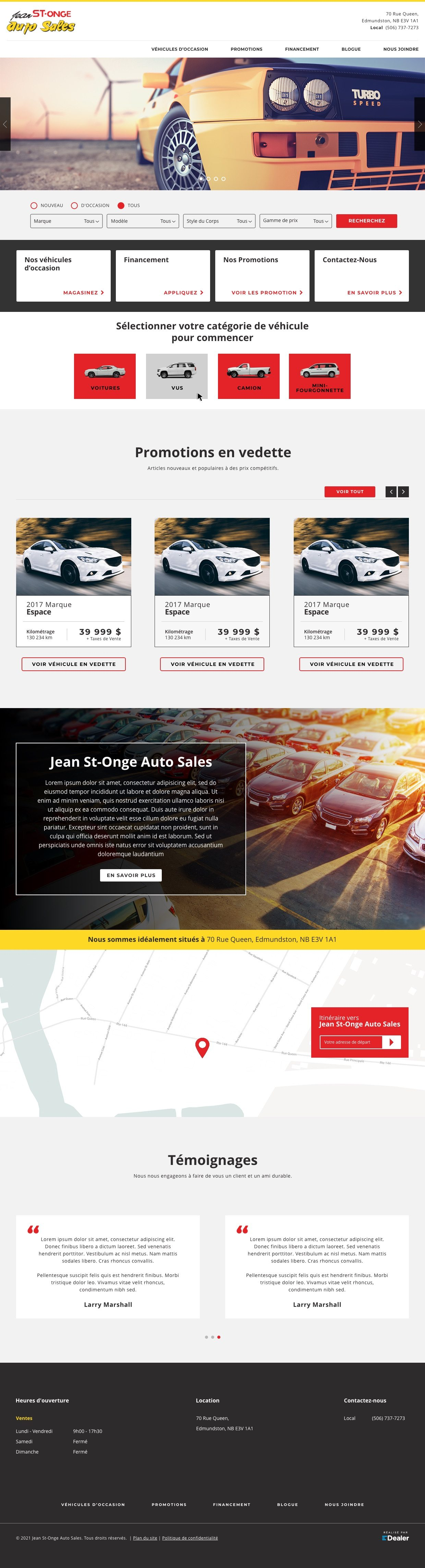 Jean St-Onge Auto Sales