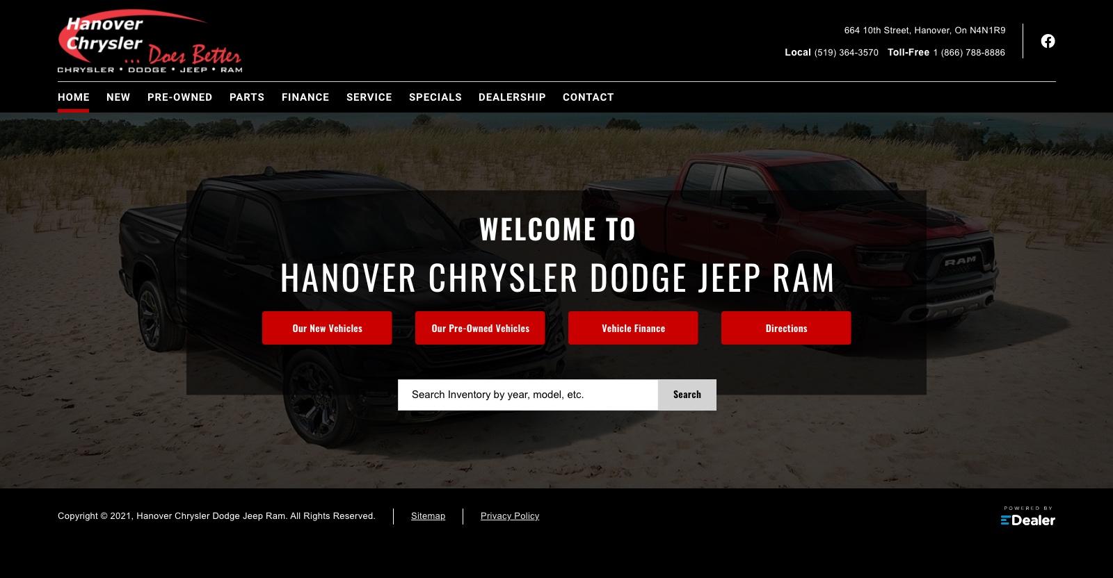 Hanover Chrysler Dodge Jeep Ram Ltd