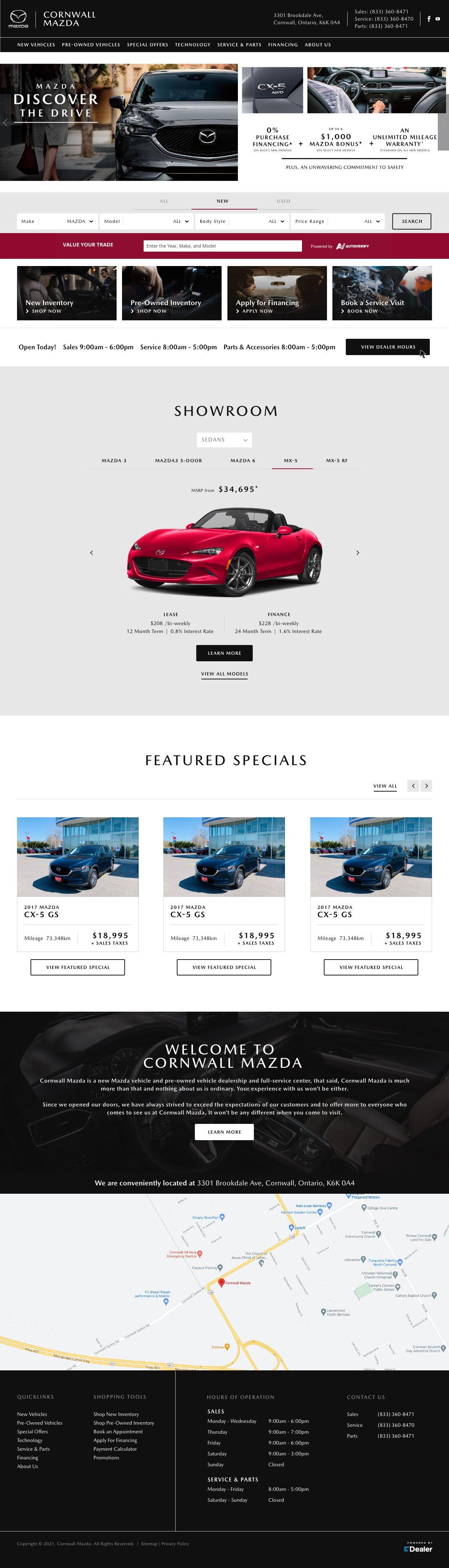 Cornwall Mazda